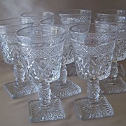 Crystal Imperial Glass Cape Cod  Wine Stems