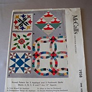 Vintage McCalls Printed Pattern Quilts