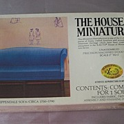 The House Of Miniatures Chippendale Sofa Dollhouse Furniture