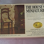 The House Of Miniatures Side Chair Set Of Two Dollhouse Furniture