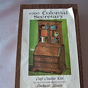 Vintage #300 Colonial Secretary Craft Creative Kits Dollhouse Furniture