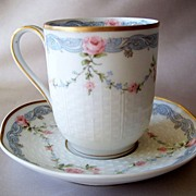 Theodore Haviland Limoges Chocolate Cup And Saucer