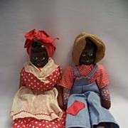 Two Vintage Black Memorabilia Dolls Poland