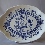 Blue Onion Platter Made In USA
