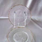 Jeanette Glass Harp Plates  Two