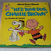 Charlie Brown Presents He's Your Dog Charlie Brown Book And Record