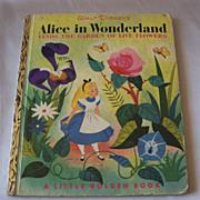 Little Golden Book Walt Disney's ALice In Wonderland