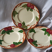 Three Franciscan Apple Bread Plates