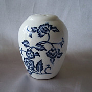 Ceramic Blue Onion Pepper Shaker