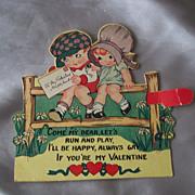 Vintage Mechanical Valentine Card