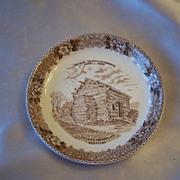 Old English Staffordhire Ware Lincolns Birthplace Plate