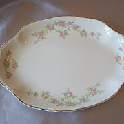 Taylor Smith  China Porcelain Platter With Rose Pattern