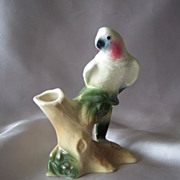 Royal Copley Parakeet Figurine Vase