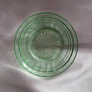 Green Hocking  Glass Circle Berry Bowl