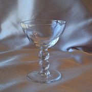 Set of Eight Clear Footed Glasses