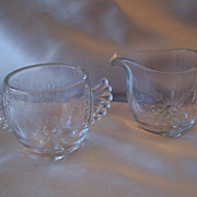Crystal Paden City Creamer and Sugar Set
