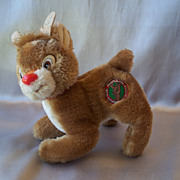Applause Plush Rudolph Red Nosed Reindeer 1988