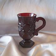 Avon Glass Cape Cod Rudy Red Mug