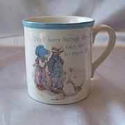 Holly Hobbie Blue Girl Stoneware Mug