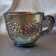 Fenton Glass Blue Orange Tree Punch Cup