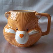 Care Bears Friend Bear Head Shaped Mug 1984
