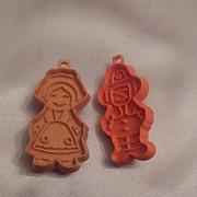 Hallmark Card Thanksgiving  Pilgrim Boy and Girl Cookie Cutter