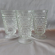 Four Indiana Glass Whitehall Crystal Tumblers