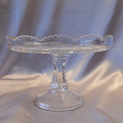 Eary American Pattern Glass Cake Stand EAPG