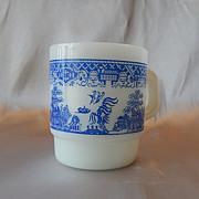 Anchor Hocking Fire King Blue Willow Coffee Mug
