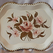 Metal Hand Painted Tole Tray