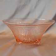Hazel Atlas Glass Pink Royal Lace Depression Bowl