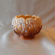 Fenton Art  Glass Lily Of The Valley Rose Bowl