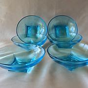 Six Hazel Ware Capri Colonial Bowls