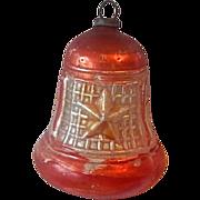 German Glass Christmas  Bell Ornament