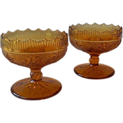 Indiana Tiara Exclusives Amber Candle Holders