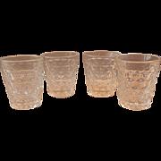 Four Fostoria American Crystal Shot Glasses