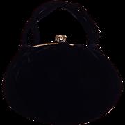 Julius Renick JR Black Velvet Handbag