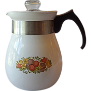 Corning Ware Spice of Life Stove Top Percolator Coffee Pot