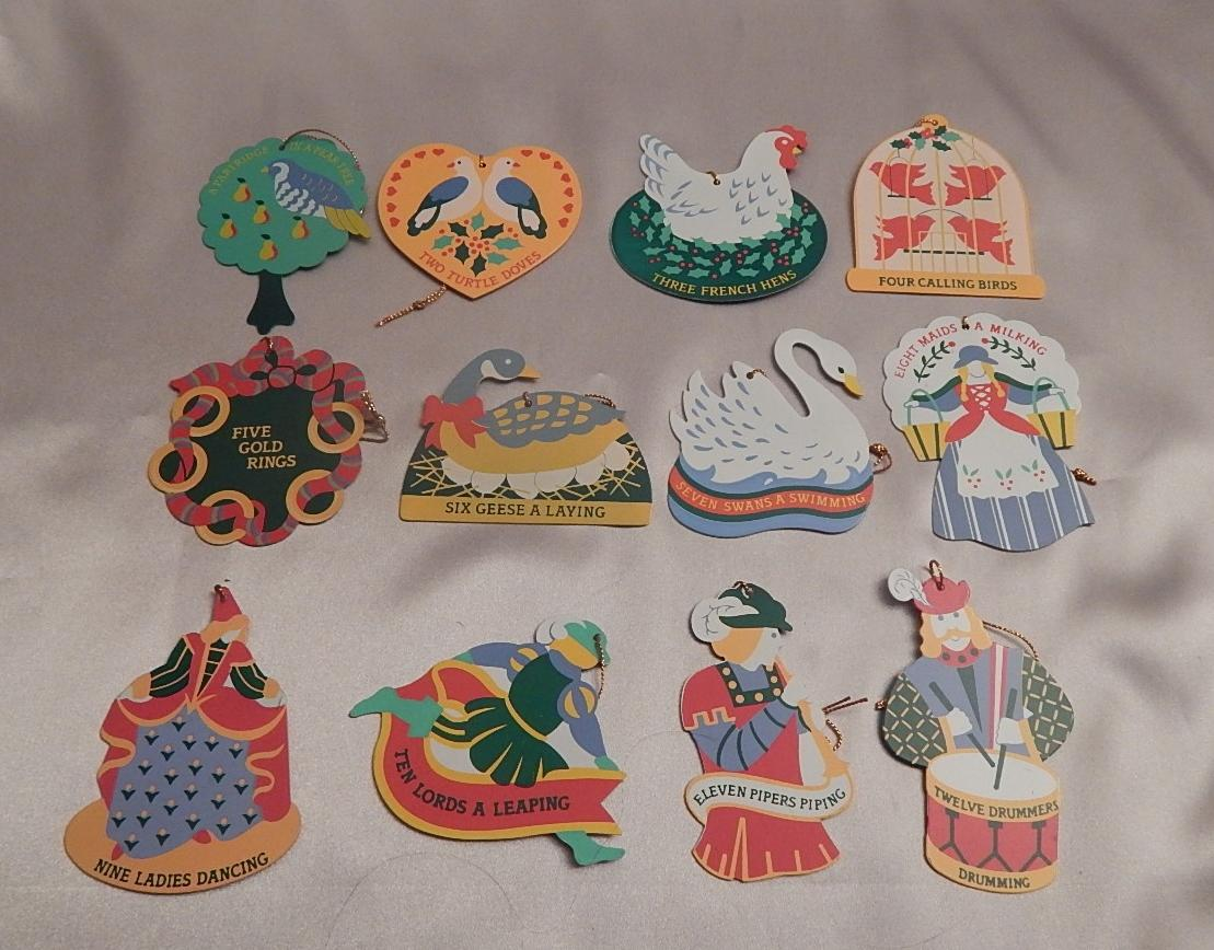 Avon Twelve Days of Christmas Ornaments Set from ...