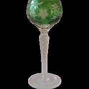 AJKA Crystal Green Marsala Wine Goblet