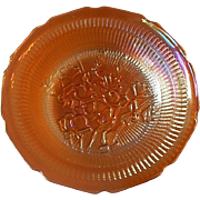 Jeannette Glass Iris and Herringbone Iridescent Soup Bowl