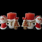 Napco Ware Santa Candle Holders
