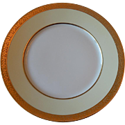Hutschenreuther Bavaria Porcelain Pattern HUT5 Gold Encrusted Dinner Plate