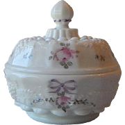 Westmoreland Paneled Grape Hand Decorated Candy Dish