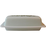 Pyrex Blossom Green Covered Butter Dish