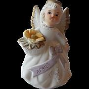 Lefton April Birthday Angel Figurine