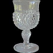 Indiana Glass Diamond Point Crystal Goblet