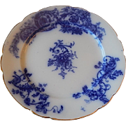 W & E Corn Ironstone Flow Blue Plate