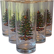 Spode Christmas Tree Highball Glasses