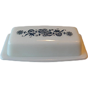 Pyrex Old Town Blue Butter Dish